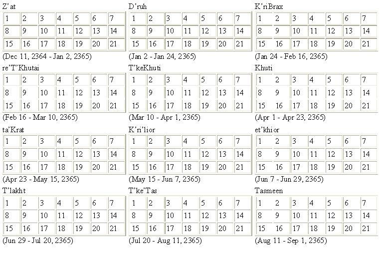 DTI Calendar Notes Christopher L Bennett Written Worlds