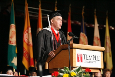Christopher Wink at Temple's 2008 commencement