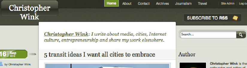 Four years later, launching new WordPress theme