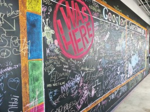 Google's Guestbook Wall
