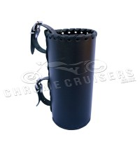 Motorcycle leather drink holder - large (N4A) - Chrome ...