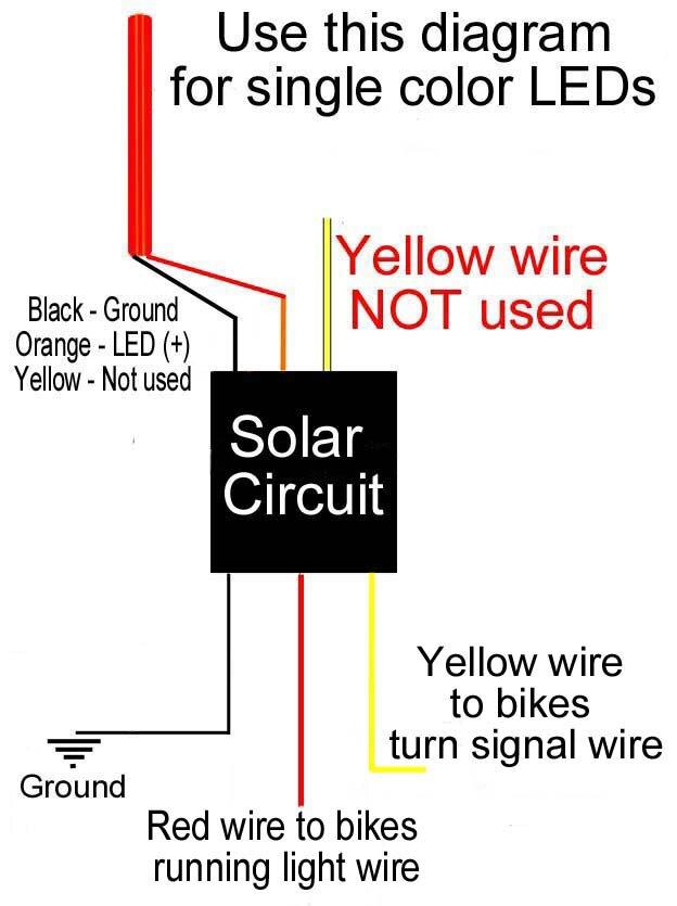 Solar Circuits Motorcycle LED Turn Signal Wiring Harness Circuits