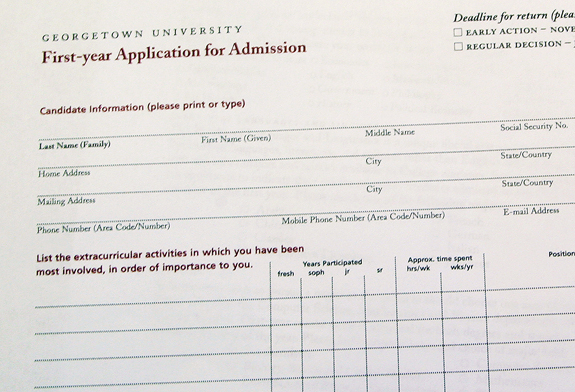 georgetown application essay
