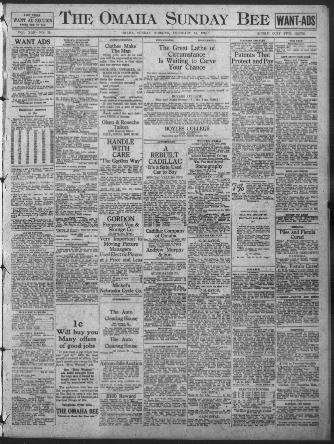 Omaha daily bee (Omaha Neb) 187?-1922, February 14, 1915, WANT