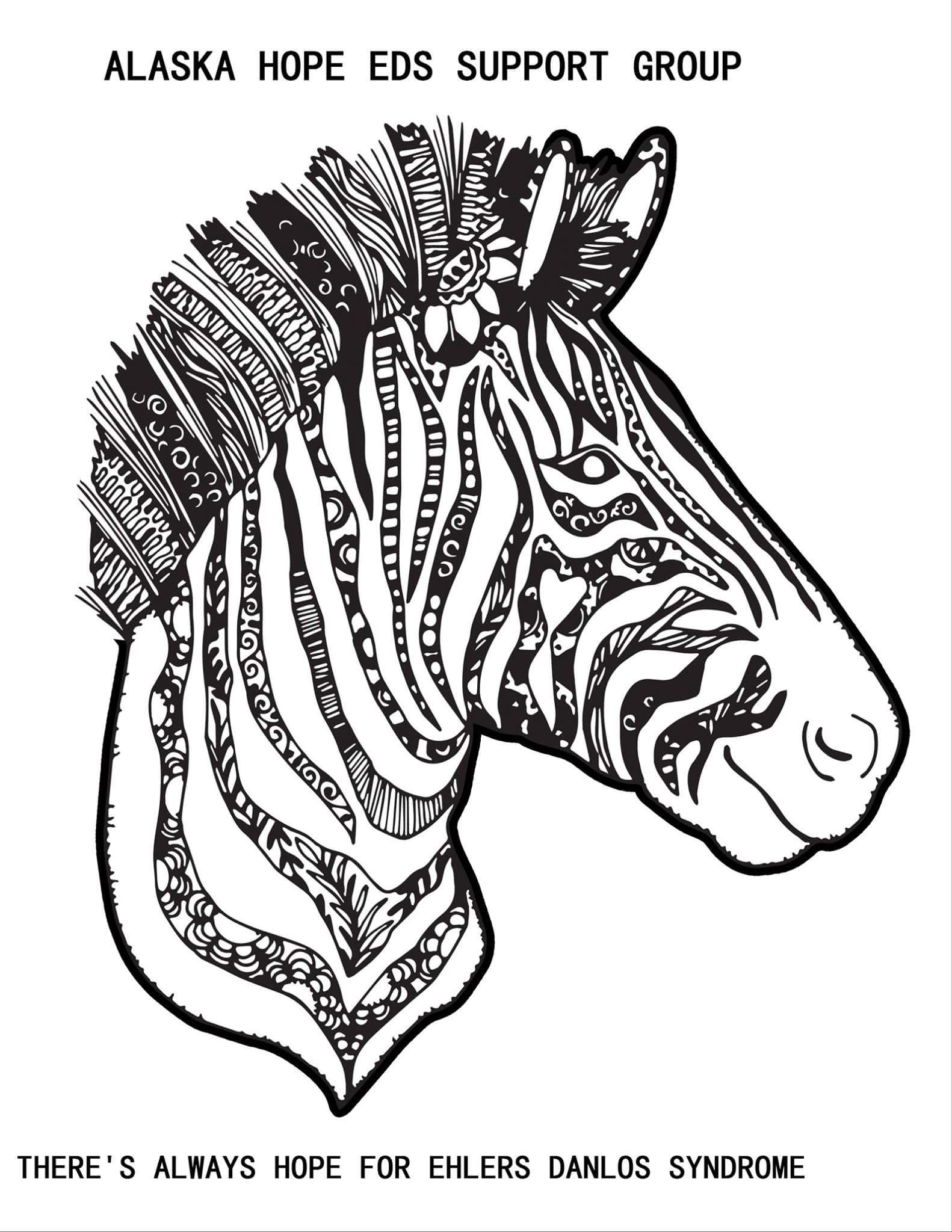Ehlers Danlos Syndrome Alaska Ehlers Danlos Syndrome Awareness Month Coloring Competition