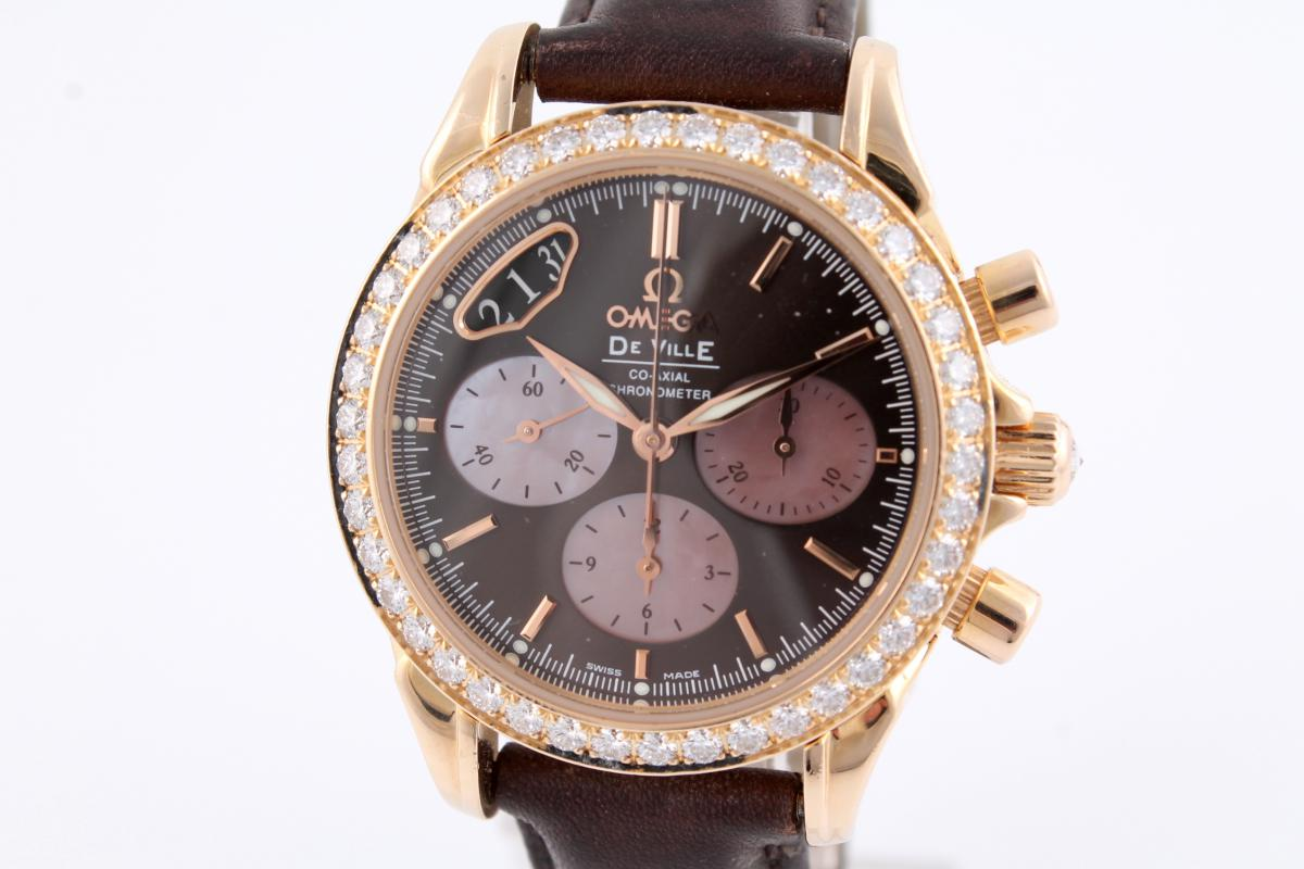 Chronograph Damen Uhr Deville Co Axial Chronograph Ladies With Diamond Setting