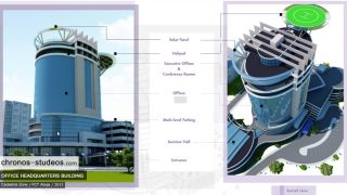 3d exterior rendering office building architecture abuja nigeria