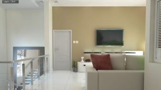 Chronos Studeos 3D visualization Pinnock Beach luxury living area 1b