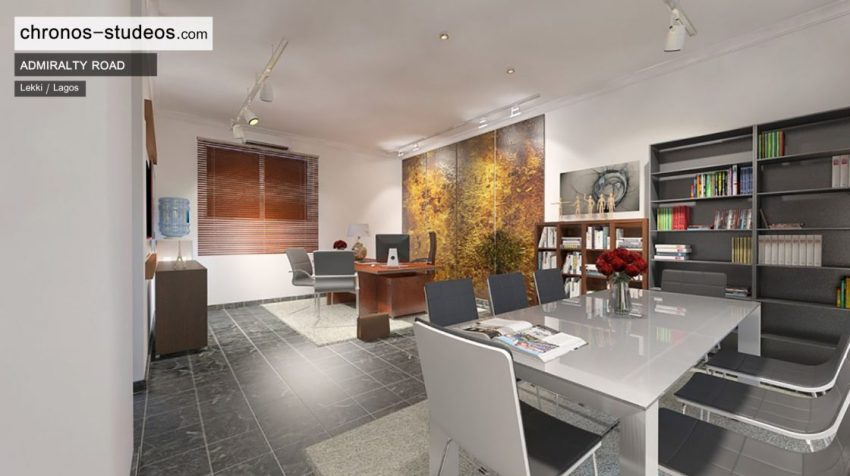 Architecture company in Africa - Admiralty Road interior 3D visualization by Chronos Studeos in Lagos Nigeria