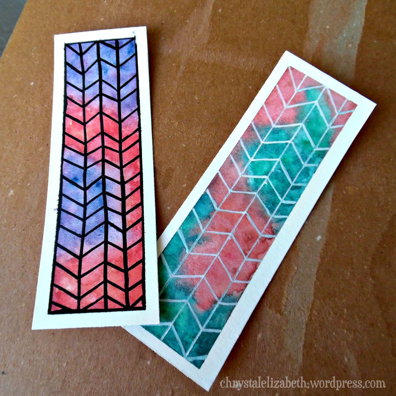 Diy watercolor bookmark chrystalelizabeth