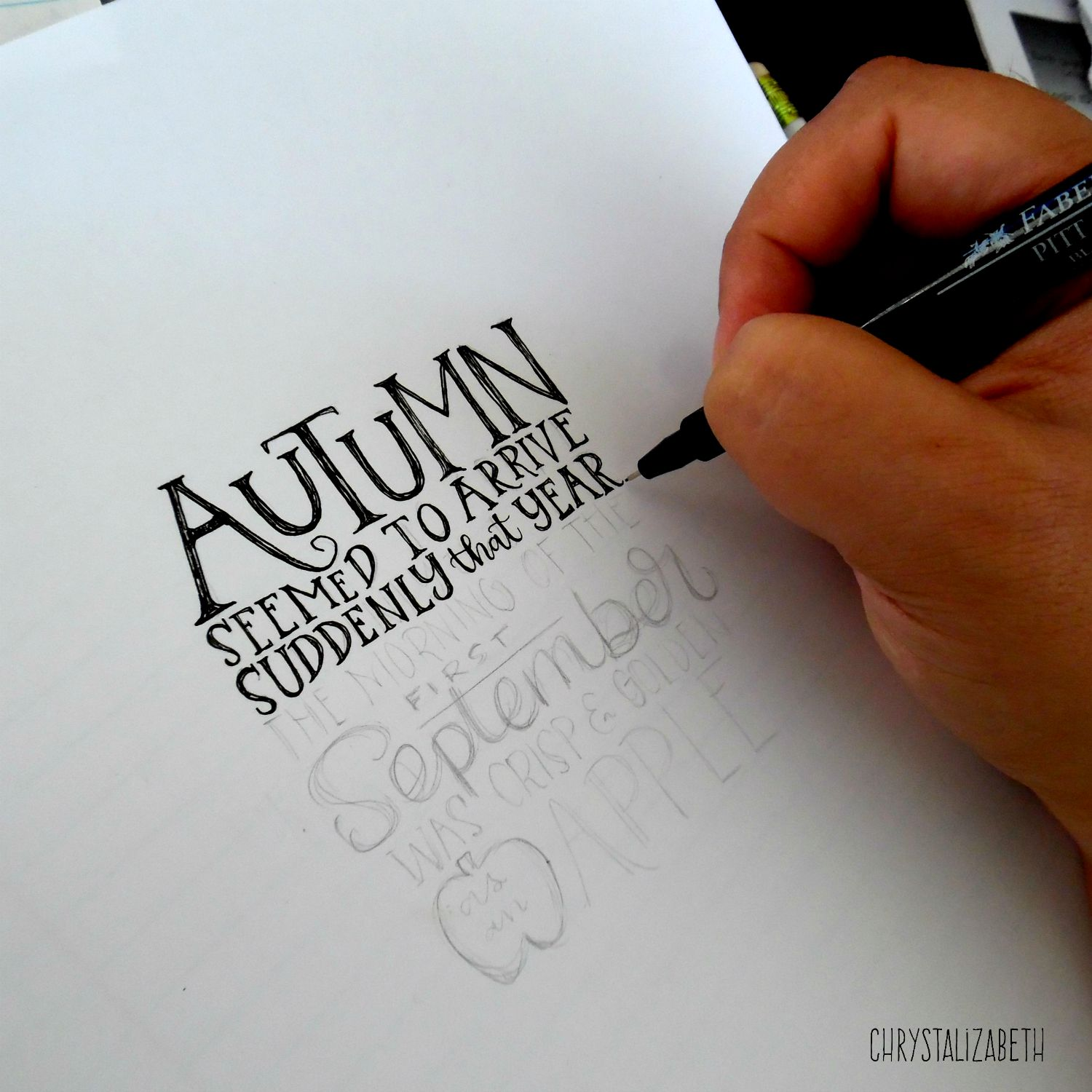 Apple Quotes Wallpaper Harry Potter Autumn Handlettered Quote Chrystalizabeth