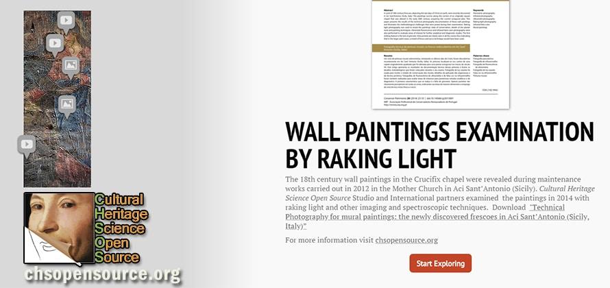 Wall paintings Examination by Raking Light guide