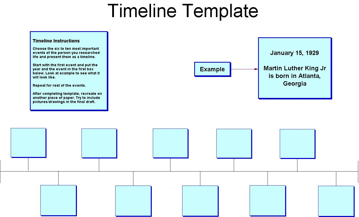 Blank History Timeline Template – Blank Timeline Template
