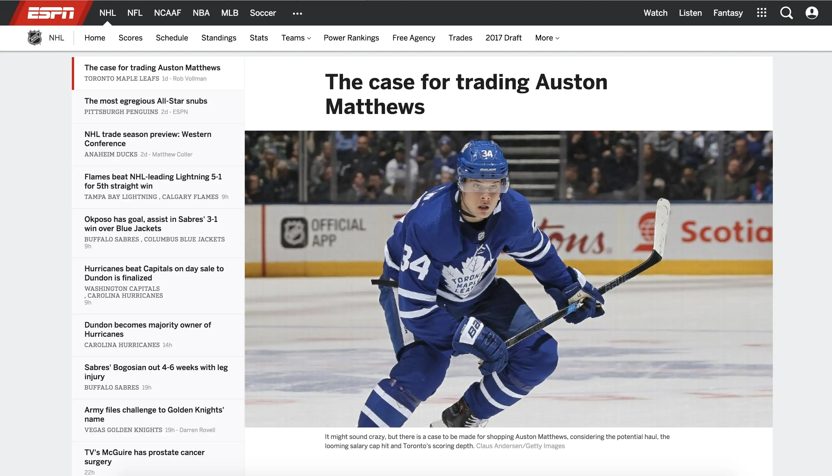 Marc Duchesne Hockey Espn Brings Up A Great Question Why Haven T The Toronto Maple