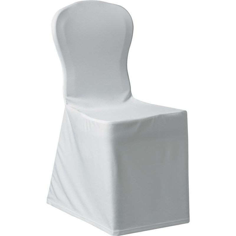 Chair Cover Silhouette Ii Banquet Polyester Chair Cover White