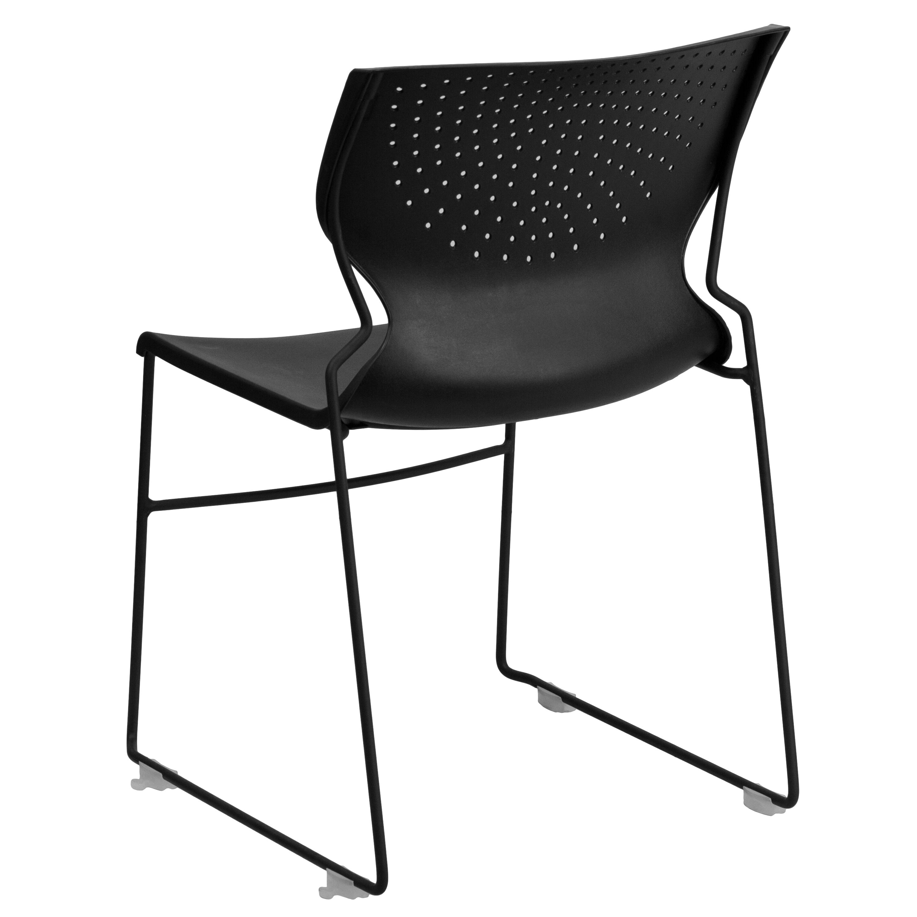 North Camp Stuhl Hercules Series 661 Lb Capacity Black Full Back Stack Chair With Black Frame