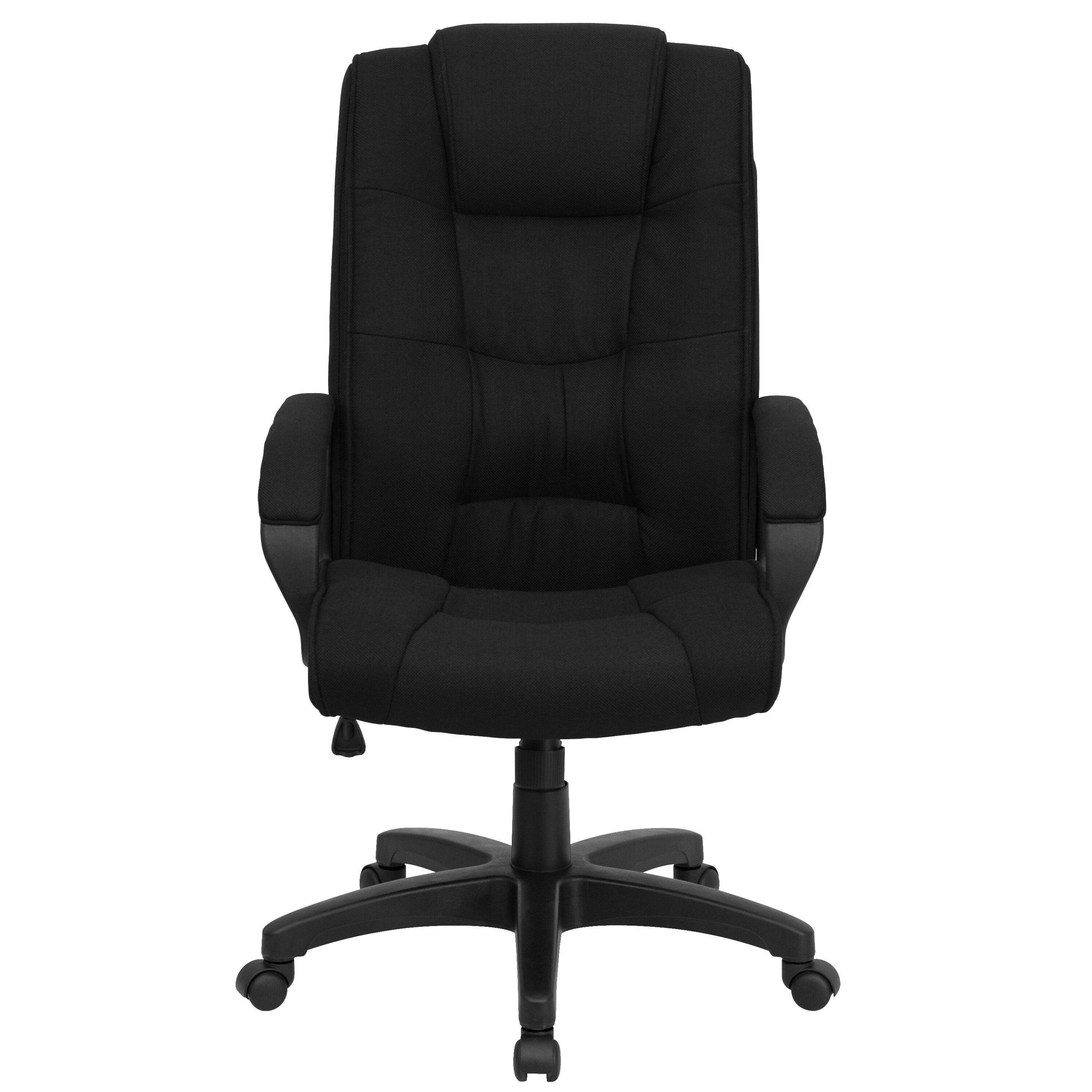 Cloth Covered Office Chairs Flash Furniture High Back Black Fabric Executive Swivel