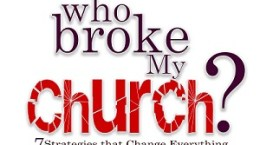 who broke my church book cover FB