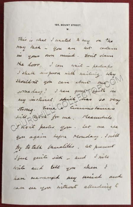 Letter Churchill\u0027 Signature Muriel Wilson Marriage Rejection