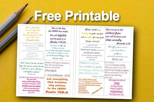 Free Printable Family Bible Verse Cards