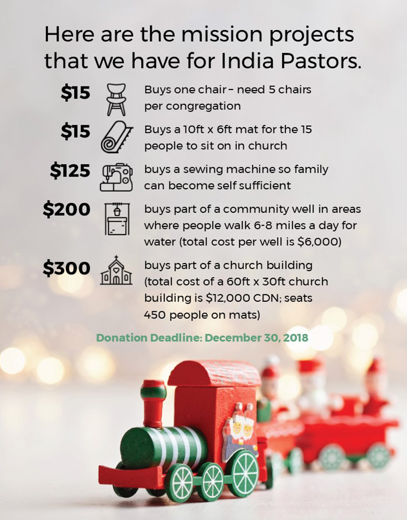 Miles And More India Missions Christmas Gifts Church Of The Rock