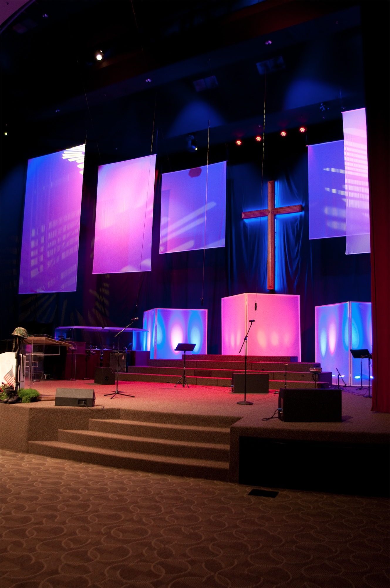 Modern Lighting Concept Traditional To Modern Church Stage Design Ideas