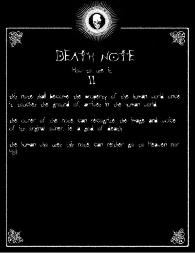 Death Note : How to use II | Death Note Review