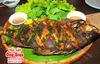 Cách nấu ăn cá Nanh Heo – cá Thiên Thần nướng muối ớt lá sen