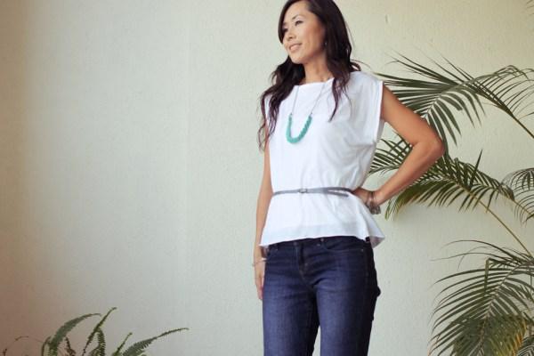 iSanctuary blue necklace & jeans