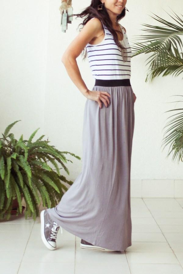 Stripe & Maxi Skirt-4