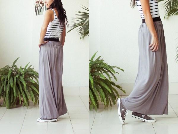 Stripe & Maxi Skirt