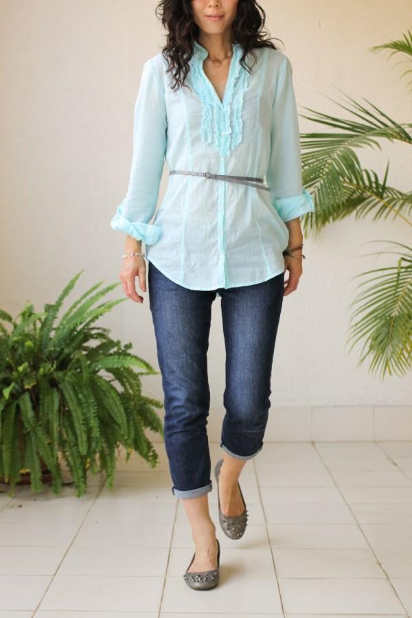 Cottonworld Blue Shirt-4