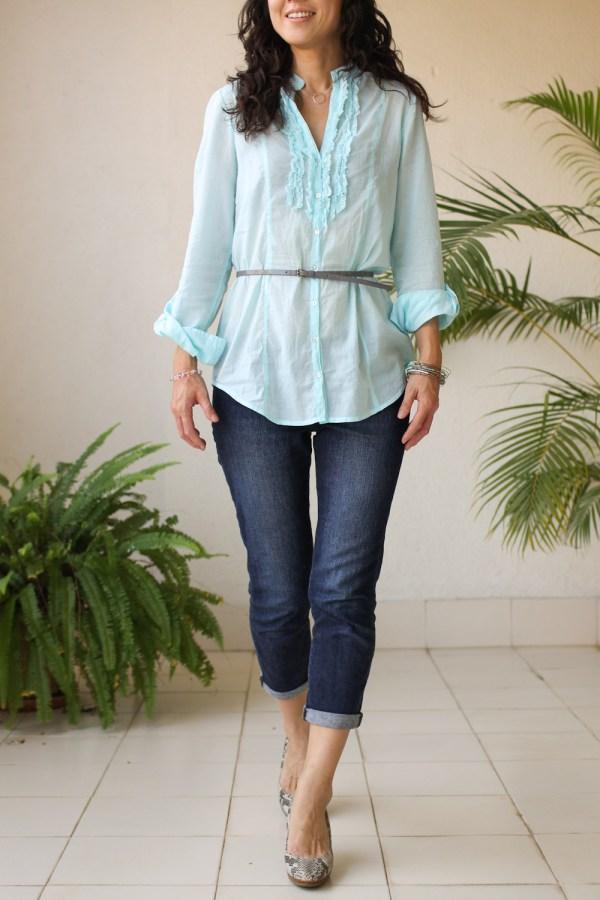 Cottonworld Blue Shirt-7