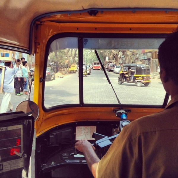 rickshaw ride in Mumbai