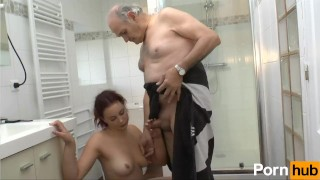 Rehead fucks her boyfriend then his dad