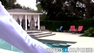 PropertySex - Gorgeous blonde real estate agent makes sex video with client
