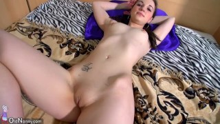 Mature with big tits masturbate with cute young girl
