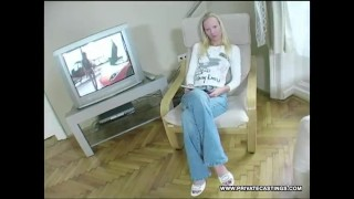 Gitta Blond Does Anal in Her First Casting.