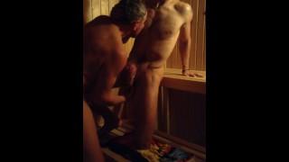 Straight Guys Fucking in Sauna