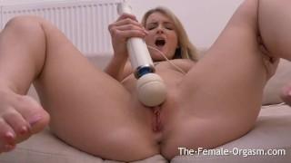 Big Natural Breasted Blondes Hitachi Masturbation to Real Orgasm
