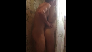 Curvy blonde babe gets fucked hard in shower