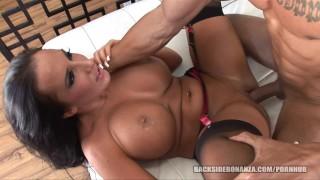 BACKSIDE Big Butt Slutt gets her Pussy filled with Cum