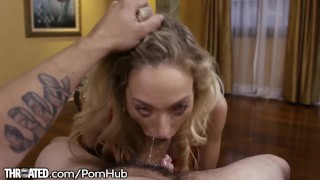 Throated Zoe Parker Slobbers All Over that Dick!