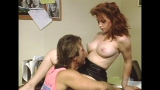 Classic Porn: Teen redhead secretary takes a huge dick