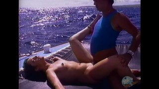 She gets wet for boat sex