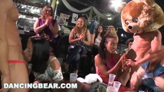 DANCING BEAR - Real Women, Real Horny, Sucking Big Dicks in a CFNM Party