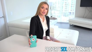 PropertySex - Supportive man helps girlfriend feel better