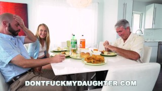 DON'T FUCK MY DAUGHTER - Teen Alyssa Cole Fucks Daddy's Friend