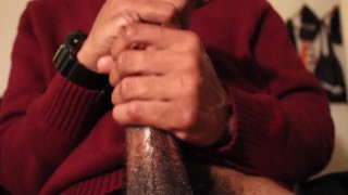 Black Guy Slow Stroking Dick
