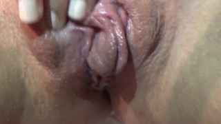Playing with my pussy and tasting my cum!!!